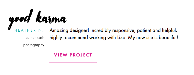 Button styles on Liza Wilde Co.