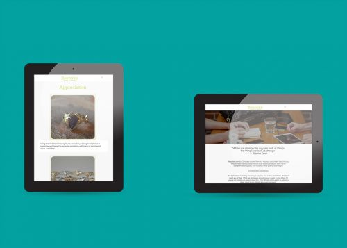 Tablet device displays of response Wordpress web design