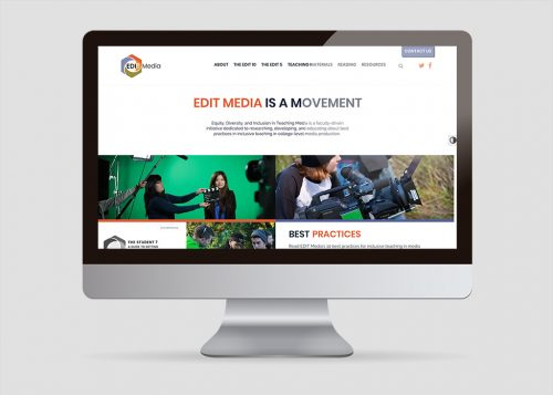 Desktop, large-screen view of EDIT Media Group responsive web design