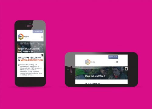 Mobile device layout for EDIT Media Group responsive web design