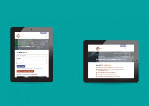 Tablet device view of EDIT Media Group responsive web design