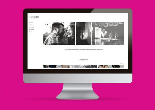 Responsive web design for Heather Nash photography