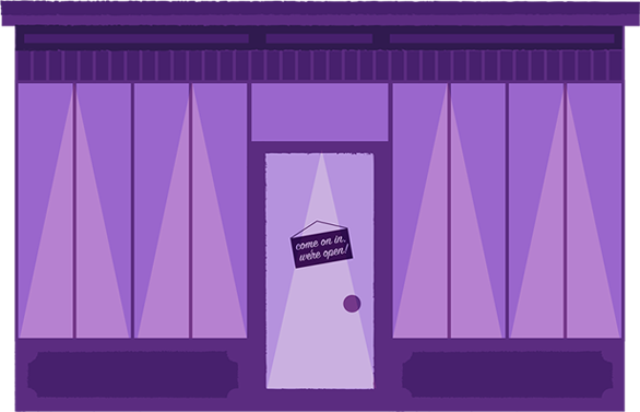 Digital storefront illustration