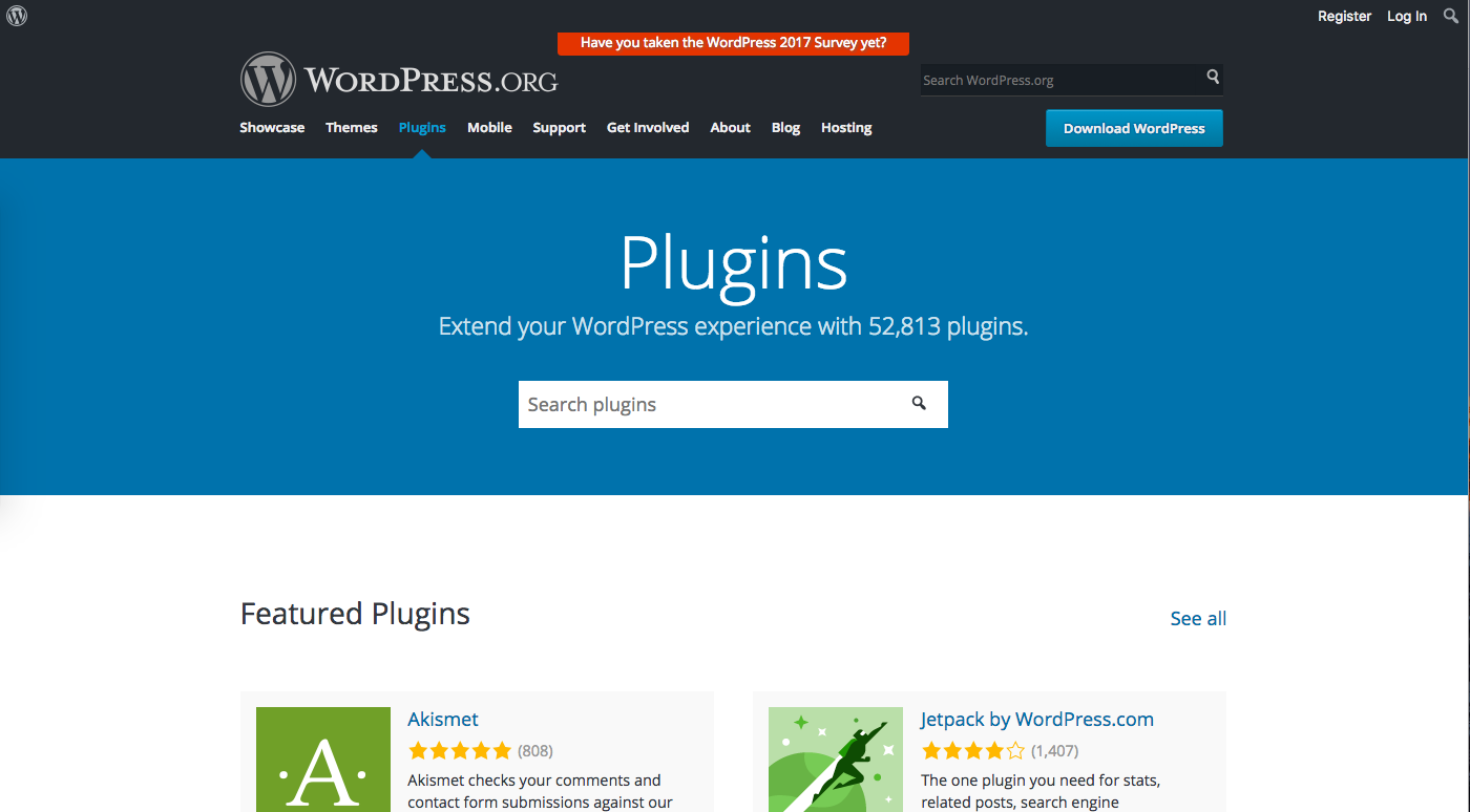 A screenshot of the WordPress Plugin Directory