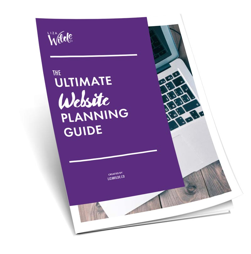 Download the Ultimate Website Planning Guide by Liza Wilde Co.