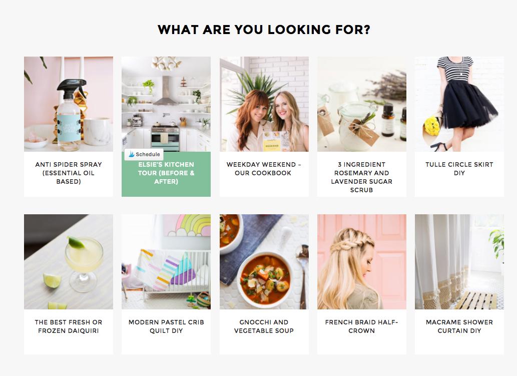 Blog styles on A Beautiful Mess
