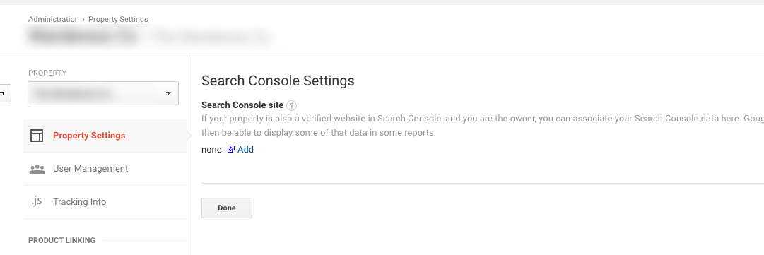 Add your site's Google Search Console to Google Analytics